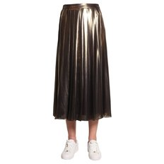 Michael by michael kors Pleated Midi Skirt size: 2 MH87EW0A9S 098BLACK GOLD