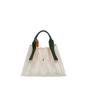 Lucky Pleats Canvas S Ivory_Green(0JSK4CB40206F)