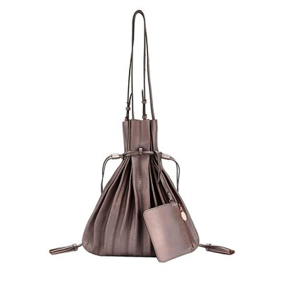 [조셉앤스테이시] Lucky Pleats Shopper Cracked Brown