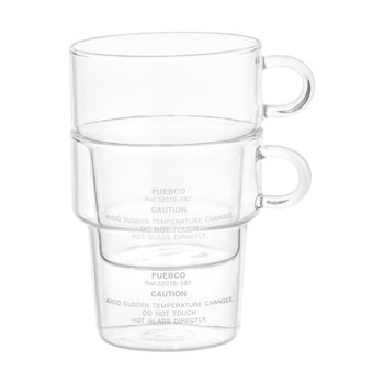 BOROSILICATE GLASS MUG Deep Stacking