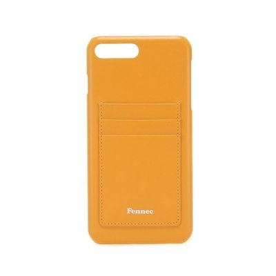 [A LAND]Fennec Leather iPhone7+/8+ Card Case - Mandarin