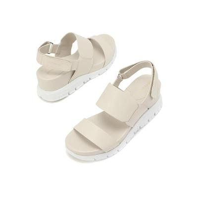 [RAUM EDITION] [COLEHAAN] [ZEROGRAND Wedge Sandal] 크림 여성 가죽 샌들 [WIDTH:B] CHSO9E219CR