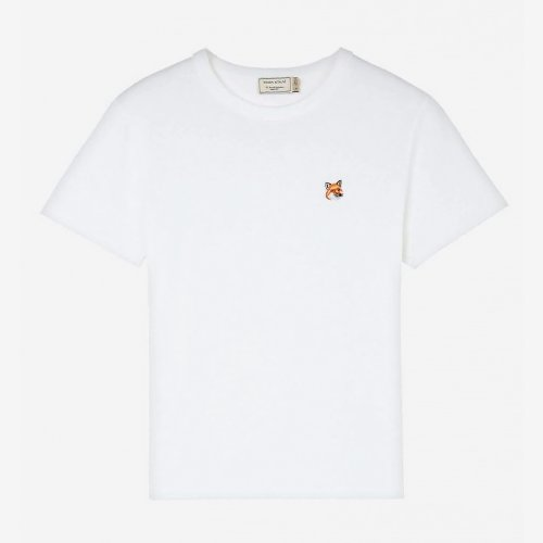 [PRE-ORDER] 19FW TEE-SHIRT FOX HEAD PATCH WHITE WOMEN AW00103KJ0005