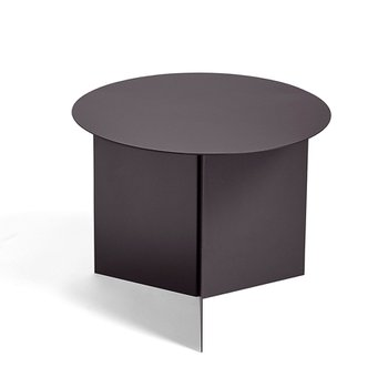 Slit Table Round Aubergine