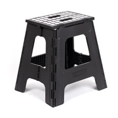 BIG RHINO FOLDING STEP STOOL BLACK