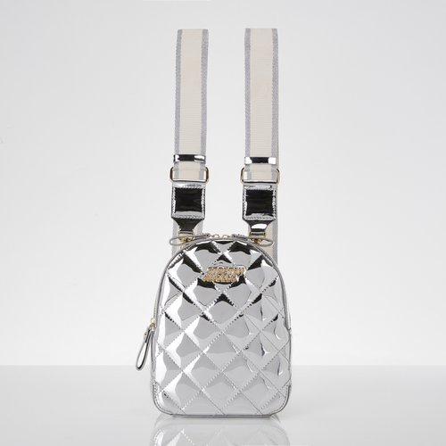 Waffle backpack (Silver)