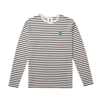 MEL LONG SLEEVE OFF-WHITE/NAVY STRIPES