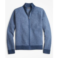 램스울 헤링본 풀집 스웨터 Lambswool Herringbone Full-Zip Sweater