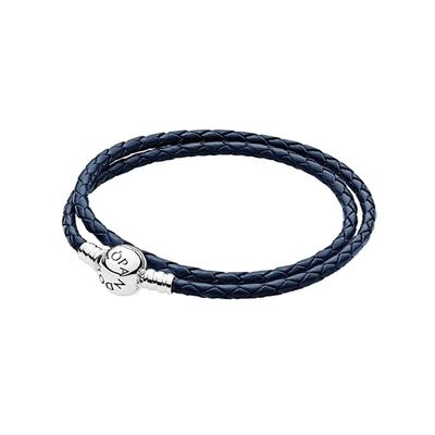 PANDORA 판도라 590745CDB Braided DOUBLE LEATHER 팔찌