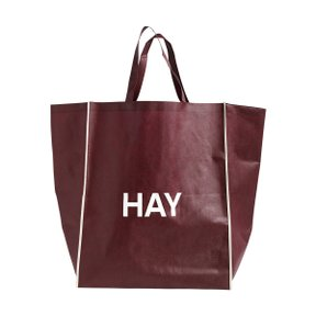 SHOPPING BAG L BURGUNDY