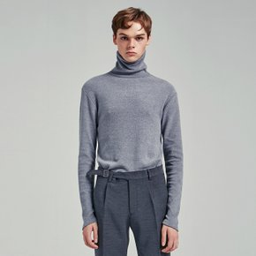 BASIC SIMPLE TURTLENECK T_GRAY