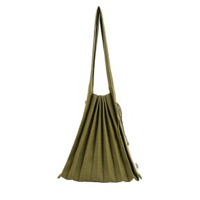 [조셉앤스테이시] Lucky Pleats Knit Warm Crossbag M Olive