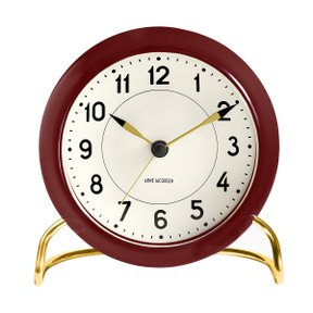 아르네야콥센 Table Clock Station Burgundy (43676)