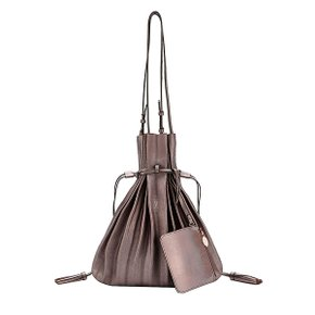 Lucky Pleats Shopper Cracked Brown(JSH1SH40105F)