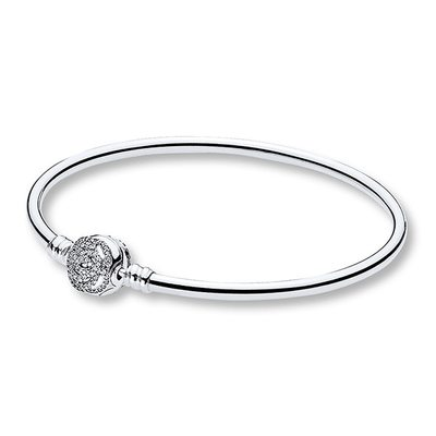 PANDORA 판도라 590748CZ Disney Beauty & The Beast Charm 실버 팔찌