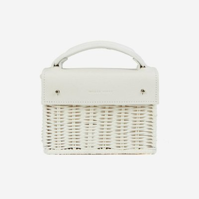 WICKER WINGS 위커윙스 MINI KUAI BAG WHITE
