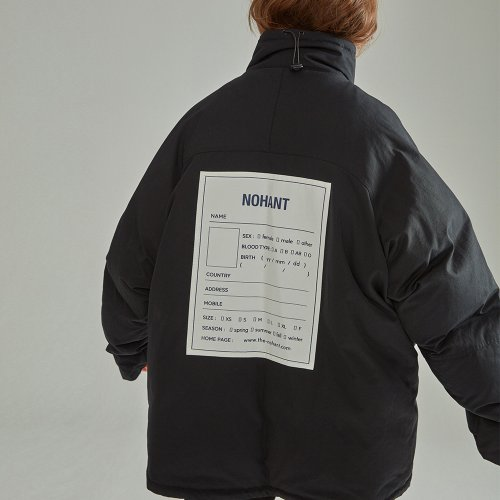 [NOHANT] OVERSIZED NAME LABEL PADDING BLACK
