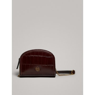 MOCK CROC LEATTHER CROSSBODY BAG WITH CHAIN 06923613700