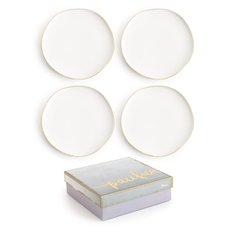 Pacifica Plate White 4pcs/set