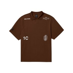[골스튜디오] SSFC PIQUE COLLAR SHIRT - BROWN