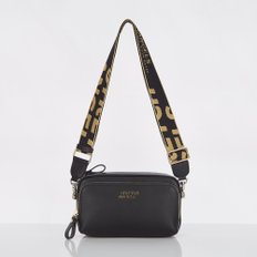 스트레치엔젤스[파니니백] PANINI metal logo solid bag (Black/Gold)