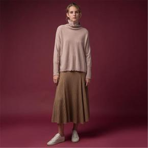Turtleneck Loose Fit Tunic_Dust Pink