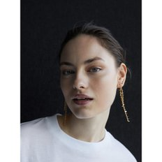 Gold plated long earrings 04605749303