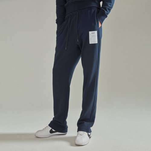 [NOHANT] NAME LABEL SWEATPANTS NAVY