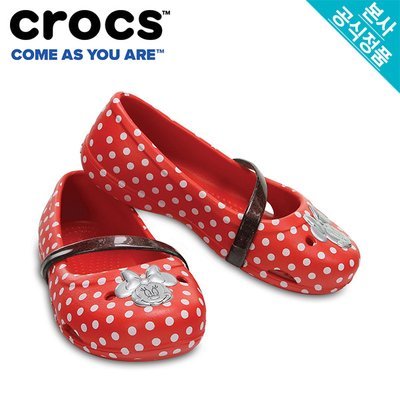크록스공식 아동 CROCS LINA MINNIE FLAT K DOTS(204140)