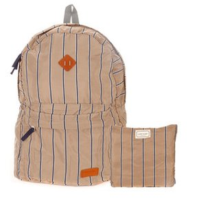 럭키플래닛 Travel light backpack navy stripe LP02BPC101NS