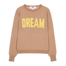 공식[MSGM] W_DREAM Lettering Knit (BEIGE)