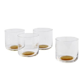 COLOUR GLASS WATER LOW Set of 2