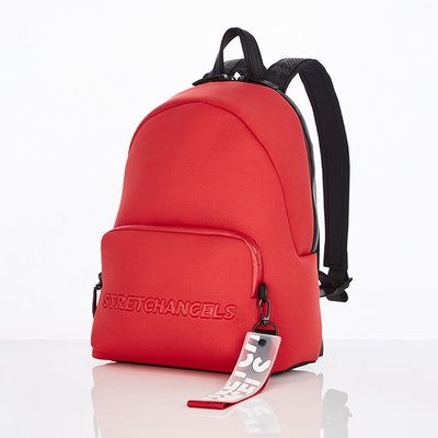 스트레치엔젤스[N.E.O] Basic zipper pocket backpack M (Red)