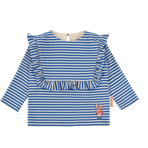 Rabbit baby stripe square ruffle teeBP9122221