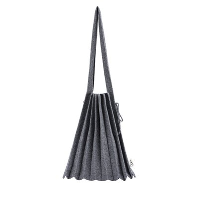 [조셉앤스테이시] Lucky Pleats Knit Warm Crossbag M Melange Grey