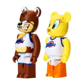 100% BEARBRICK TWEETY & TASMANIAN DEVIL 2PACK