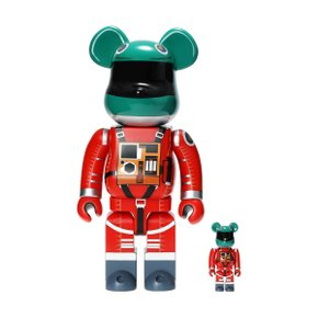 400%+100% BEARBRICK SPACE SUIT GREEN HELMET & ORANGE SUIT VER(1912002)