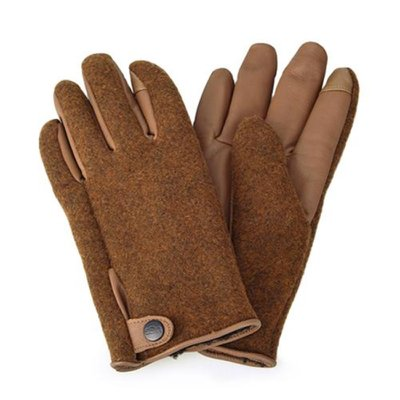 [어그] 남성 SNAP TAB FABRIC TECH GLOVE_CHESTNUT