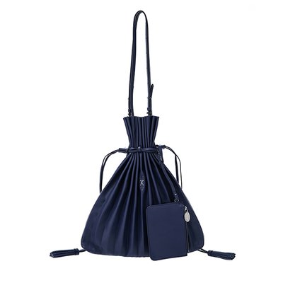Lucky Pleats Shopper Posy Navy (0JSK1SH40407F)