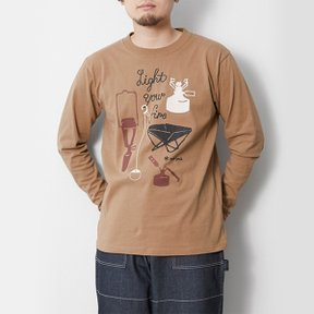 스노우피크 Light your Fire L/S Tee Brown