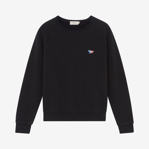 [PRE-ORDER] 20SS SWEATSHIRT TRICOLOR FOX PATCH BLACK MEN AM00302KM0002