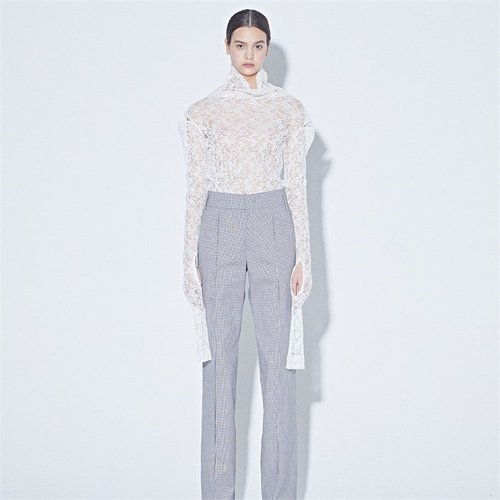 [MUSEE] Mid-rise gingham pants (2172483)