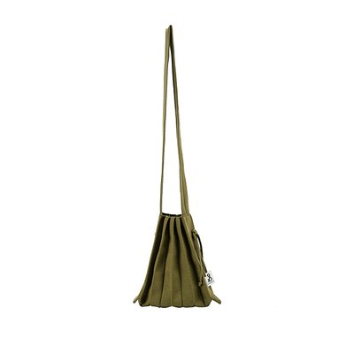 [조셉앤스테이시] Lucky Pleats Knit Warm Crossbag S Olive