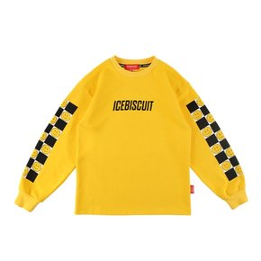 Smile checkerboard-printlong sleeve tee