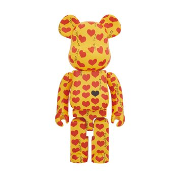 1000% BEARBRICK YELLOW HEART