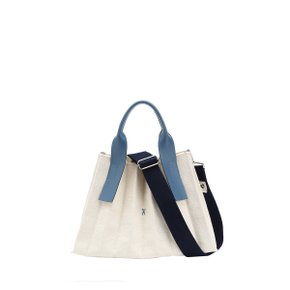 Lucky Pleats Canvas S Ivory_British Blue(0JSK1CB40204F)