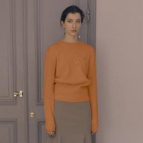 Leaf Cashmere Knit_Orange