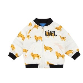 Multi cheetah baby reversible quilted wellon jacket