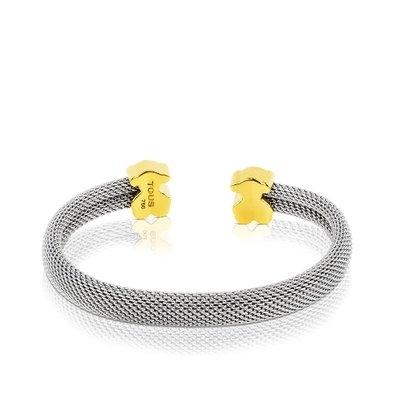 [최초출시가 589,000원]Mesh Steel and Gold Bangle/팔찌/715900202