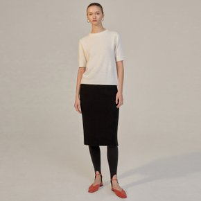 EVA CASHMERE KNIT SKIRT - BLACK